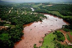 Überblick der Zerstörung in der Region Minas Gerais. (Bild: EPA/Antonio Lacerda)
