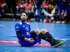 Nikola Karabatic gelang ein versöhnliches Ende der WM und sicherte Frankreich mit seinem Tor in der letzten Sekunde die Bronzemedaille (Bild: KEYSTONE/EPA RITZAU SCANPIX/LISELOTTE SABROE)