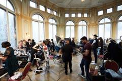 Zahlreiche Teilnehmer massen sich am internationalen Wettbewerb. (Bild: Jakob Ineichen, Luzern, 27. Januar 2019)