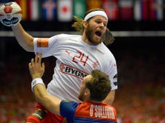 Mikkel Hansen wurde Torschützenkönig und zum besten Spieler des Turniers gewählt (Bild: KEYSTONE/AP/MARTIN MEISSNER)