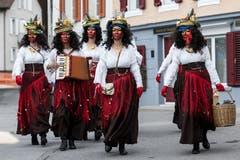 Zigeunerinnen in Gersau. (Bild: KEYSTONE/Alexandra Wey, 28. Januar 2019)