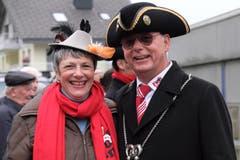 Das neue Frohsinnpaar Stans heisst Marlon I. und Margrit Imobersteg. (Bild: Richard Greuter, 29. Dezember 2018)
