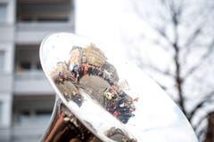 Gallivater Abholung 2019 auf dem Dorfplatz in Kriens. (Bild: Roger Grütter, 12. Januar 2019)