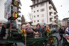Gallivater Abholung 2019 auf dem Dorfplatz in Kriens: Die Kutschenfahrt hat Tradition. (Bild: Roger Grütter, 12. Januar 2019)