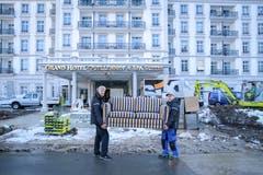 Das Grand Hotel Quellenhof wurde in wenigen Stunden... (Bild: rar)