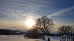 Sonnenuntergang auf dem Tannenberg. (Bild: Mary Scherer)