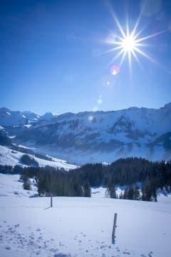 Wandertag an einem Sonnentage. (Bild: Franziska Müller (Marbachegg, 22. Januar 2019))