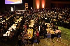 508 Delegierte der CVP des Kanton Luzern haben der Versammlung in Sursee beigewohnt. (Bild: Boris Bürgisser (Sursee, 29. Januar 2019))