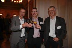 Luzerner Kantonsräte unter sich: Daniel Keller (SVP), Ludwig Peyer (CVP) und Ruedi Amrein (FDP). (Bild: PD)