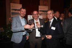 Willisauer Unternehmer unter sich: Adrian Affentranger (Diwisa AG), Roger Wermelinger (Agentur Frontal AG) und Hans Rudolf Imbach (Imbach Logistik AG). (Bild: PD)