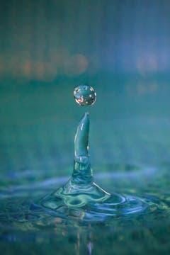 Wassertropfen-Makro. (Bild: Petra Jung (Hämikon, 4. Januar 2019))