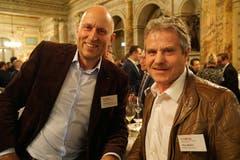 Gaudenz Zemp und Pius Müller, Direktor und Vorstandsmitglied des KMU- und Gewerbeverband Kanton Luzern. (Bild: PD)