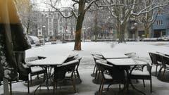 Verschneites Helvetia Gärtli in Luzern. (Bild: Kirsten Witt (Luzern, 5. Januar 2019))