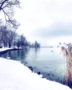 Die Sinnlichkeit von Schnee. (Bild: Andrea Decker (Luzern, 5. Januar 2019))