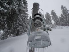 Läternliweg Schwägalp in schönstem Winterkleid. (Bild: Stephan Lendi)