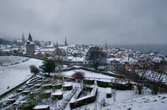 Die Zuger Altstadt im Winterkleid. (Bild: Caroline Pirskanen, 5. Januar 2019)