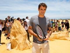 Im Mittelpunkt des Interesses: Roger Federer (Bild: KEYSTONE/EPA AAP/RICHARD WAINWRIGHT)