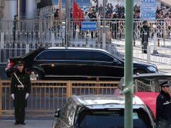 Nordkoreas Machthaber Kim Jong Un ist am Dienstag zu einem mehrtägigen Staatsbesuch in China eingetroffen. (Bild: KEYSTONE/AP/NG HAN GUAN)