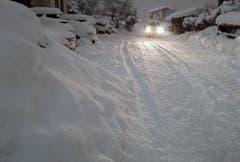 Starkes Schneetreiben auch im österreichischen Flachau. (Bild: Barbara Gindl/Keystone/APA (9. Januar 2019))