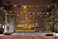 Willisau ist schon bereit für die Fasnacht inklusive Schnee. (Bild: Alfred Herzog, 9. Januar 2019)