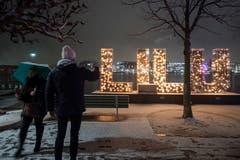 Am Lichtfestival Luzern werden vom 10. Januar bis am 20. Januar rund 17 Lichtkunstprojekte präsentiert. (Bild: Keystone/Urs Flüeler (9. Januar 2019))