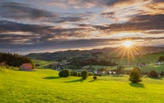 Sonnenaufgang beim Lutzenland Herisau. (Bild: Luciano Pau)