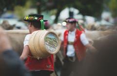 Einlauf der Sennen mit dem Vieh an der Viehschau Appenzell. (Bild: Nicolas Giovanettoni)