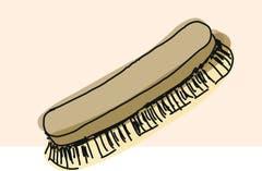 8. Glänzen mit einer weichen Bürste oder einem Stofflappen. Durch Reibungswärme schmilzt das Wachs und beginnt zu glänzen. Perfektionisten polieren den Schuh danach noch mit einem Nylonstrumpf und kreisförmigen Bewegungen.