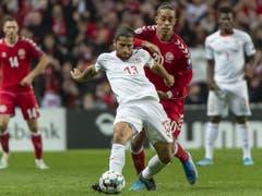 Auch Ricardo Rodriguez besass kurz nach Pause die Möglichkeit zum 1:0 für die Schweiz (Bild: KEYSTONE/GEORGIOS KEFALAS)