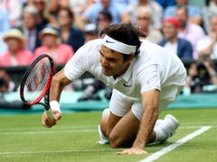 Schmerzhafte Erinnerung: 2016 musste Federer nach Wimbledon die Saison abbrechen und sich am Knie operieren lassen. Er verpasste deshalb die Olympischen Spiele in Rio, wo er unter anderem mit Martina Hingis hätte Mixed spielen wollen (Bild: KEYSTONE/AP GETTY POOL/CLIVE BRUNSKILL)