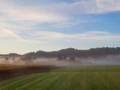 Nebelschwaden im Thurtal. (Bild: Hansjürg Oesch)