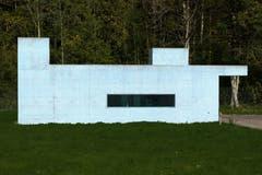 Der Mensch greift gestaltend in die Natur ein. Das Pumpenhaus vom Abwasserpumpwerk Hätterenwald. (Bild: Franz Häusler)