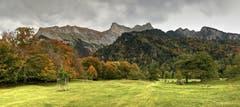 Herbstliches Heidiland bei Maienfeld. (Bild: Toni Sieber)