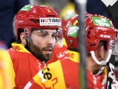 Die Bieler Spieler (hier mit Peter Schneider) holten in der Champions Hockey League 15 Punkte - die meisten aller Schweizer Vertreter (Bild: KEYSTONE/ANTHONY ANEX)