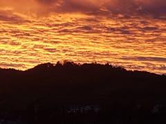 Sonnenaufgang über dem Freudenberg. (Bild: Gabriela Schneider)