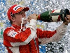 Nächste Saison winkt Räikkönen ein Rekord. Er könnte Rubens Barrichello als Fahrer mit den meisten GP-Starts in der Formel 1 ablösen. Nur noch 14 Grand Prix fehlen ihm auf die Bestmarke des Brasilianers (Bild: KEYSTONE/AP/Ricardo Mazalan)