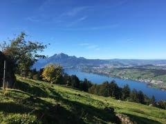 Schönste Sicht von der Seebodenalp. (Bild: Brigitte Henggeler, 11. Oktober 2019)