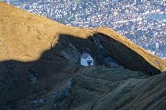 Traumsicht über die Klimsenkapelle (Bild: Hardy Konzelmann, Pilatus, 17. Oktober 2019)