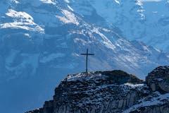 Gipfelkreuz (Bild: Hardy Konzelmann, Pilatus, 17. Oktober 2019)