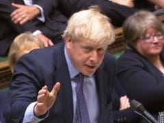 Der britische Premierminister Boris Johnson will sich weiter für einen pünktlichen EU-Austritt am 31. Oktober einsetzen. (Bild: KEYSTONE/EPA UK PARLIAMENTARY RECORDING UNIT/UK)