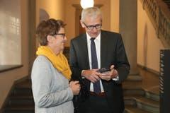 CVP-Nationalrat Leo Müller analysiert die Resultate. (Bild: Philipp Schmidli, Luzern, 20. Oktober 2019)