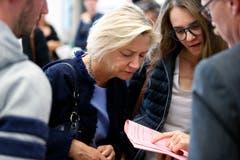 Nationalratskandidatin Karen Umbach (FDP). (Bild: Stefan Kaiser, Zug, 20. Oktober 2019)