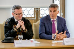 Der Kanton Nidwalden wird weiterhin durch Nationalrat Peter Keller (SVP) sowie Ständerat Hans Wicki (FDP) in Bern vertreten. (Bild: André A. Niederberger, Stans, 20. Oktober 2019)