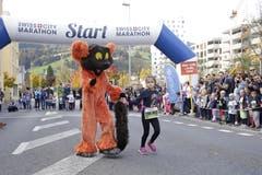 Kurz vor dem Start zum Maratholino. (Bild: Jakob Ineichen, Horw, 27. Oktober 2019)