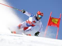 Loïc Meillard scheidet im zweiten Lauf aus (Bild: KEYSTONE/AP/MARCO TROVATI)