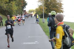 Die Läufer beim Winkel. (Bild: Jakob Ineichen, Horw, 27. Oktober 2019)