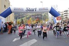 Start zum Maratholino. (Bild: Jakob Ineichen, Horw, 27. Oktober 2019)