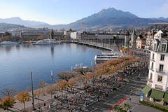 Blick auf den Schweizerhofquai und die Seebrücke. (Bild: Andy Mettler/swiss-image, Luzern, 27. Oktober 2019)