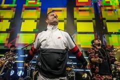 Neben Marc Sway stand auch Bligg auf der Bühne. (Bild: Michel Canonica)
