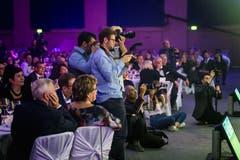 Auch die Presse liess sich die Nacht des Ostschweizer Fussballs nicht entgehen. (Bild: Michel Canonica)
